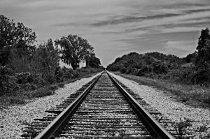 the old railroad by paint-it-redd