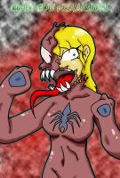 Colored symbiote Woman by CrazyCowProductions