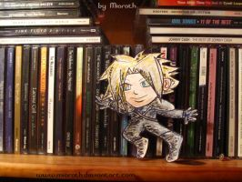 AU Cloud is sneaking around my CDs by Miarath