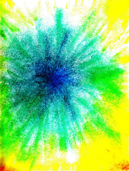 chalk pastel color burst by firstofthegang