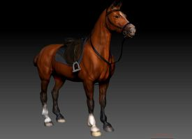 Polo Horse WIP by Maddepos
