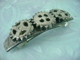 Industrial Gears Barette by monsterkookies