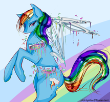 Rainbow Dash | Pastel Gore by xKittyblue