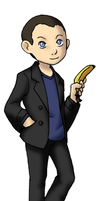 Chibi 9th Doctor by TwinEnigma