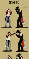 Sparring by Deceitful-Fox