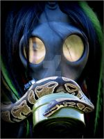 Serenity In The Gas Mask by KeithRobinette
