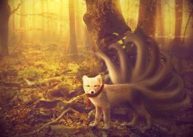 Nine-tailed fox by tamaraR