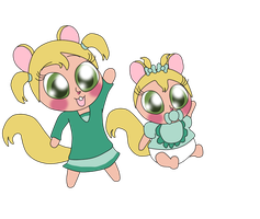 Chibi Eleanor and Baby Eleanor (The Chipettes) by Bokeol