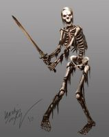 Skeleton Warrior by Odinoir
