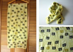 Batman Yellow Silk Scarf by lazylinepainterjane
