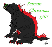 Scream. Chirstmas gift for SparkletronAdopts by BlackWolf1112-ADOPTS