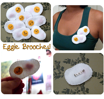 Eggie Brooches by les-cerceaux
