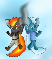 Fire and Water by LucyDraw