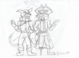 Don Karnage vs. Long John Silver sketch by Danitheangeldevil