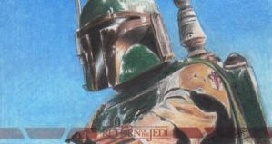 Star Wars ROTJ 3D - Boba Fett Sketch Art Card RC2 by DenaeFrazierStudios