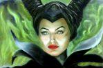 maleficent Jolie by dorothyPa04