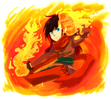SS: Fire spin by Zackypenguin