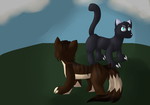 Brambleclaw And Crowpaw by ToonyTheFirst