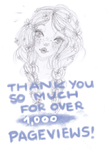 over 1,000 pageviews ! Thank you by TheAnonymBrainwash