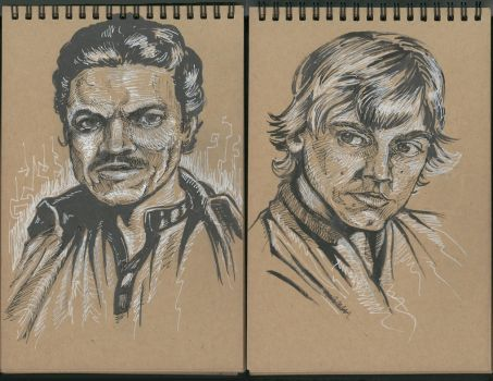 Star Wars sketches by kyle-roberts