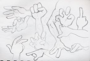 Cartoon Hands by DSil