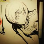 Chie leaning in by Omar-Dogan