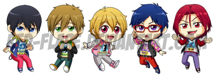 Free! Chibis by Red-Flare