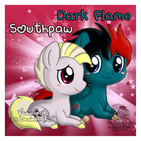 Chibi Dark Flame and Southpaw by Veemonsito