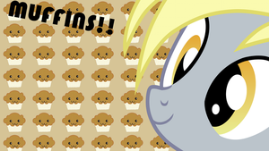 Derpy Hooves Muffin Wallpaper by armando92