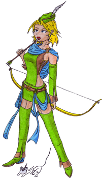 Archer Girl Color by Static-Cat