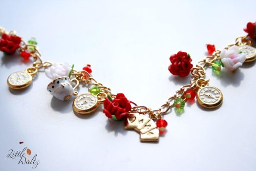 Painting the Roses Red Bracele by airymilu