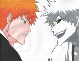 Ichigo and His Inner Hollow by Ichigowolf1410