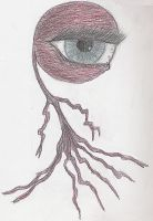 Eyeball Creature by DanteVergilLoverAR