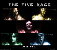 The Five Kage by kingsess