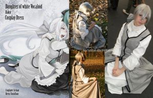 Daughter of white Vocaloid  Haku dress by YattaChanCosplay