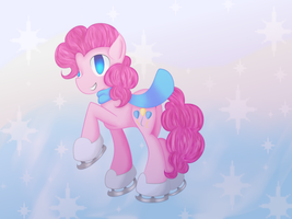 Pinkie Pie Ice Skating by Wendy-the-Creeper