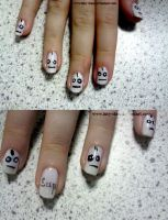 Cry Mask Nails by Iszy-chan