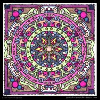 Soft Prediction Mandala Collab by Quaddles-Roost