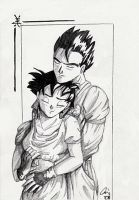 Gohan + Videl sketch. by The-Ebony-Phoenix