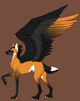 Custom Adoptable RavenWolf by Tikrekins