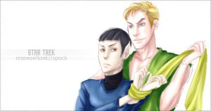 Request-Mirror Kirk x Spock by Mkb-Diapason