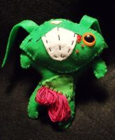 Zombie Bunny Plush by BarbedDragon