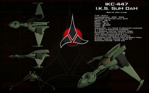 Klingon Bird of Prey (22nd Century) ortho by unusualsuspex