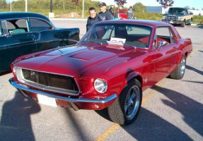 Red Musclestang 3 by Ripplin