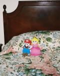 Mario and Peach plushies by MaryRyanBogard