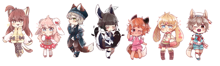 - Sketch Chibi Commission List - by Maymorin