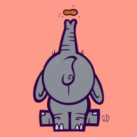 Peanut The Elephant by ArtisticDyslexia