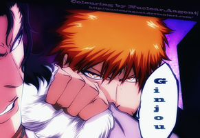 Ichigo and GInjou by NuclearAgent