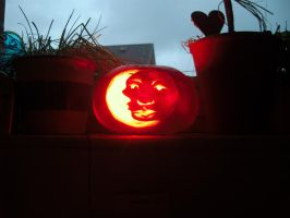 The Man In The Moon In The Pumpkin by Spidergreen