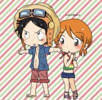 Luffy x Nami in Strong Wolrd movie by ashred252